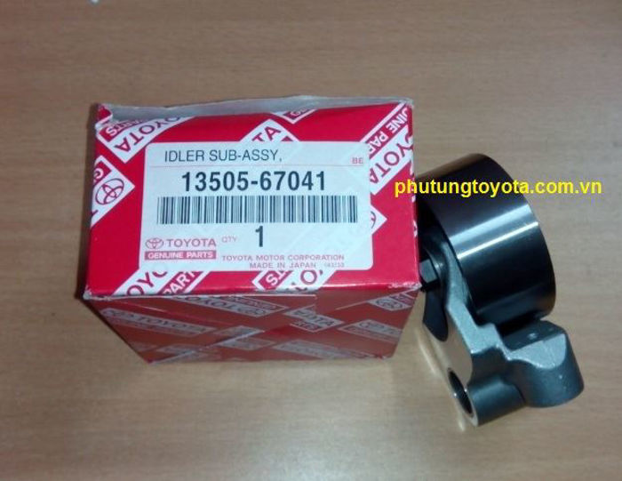 Picture of 13505-67041 Bi tì dây curoa cam Toyota Hilux, Fortuner máy dầu 1KD, 2KD