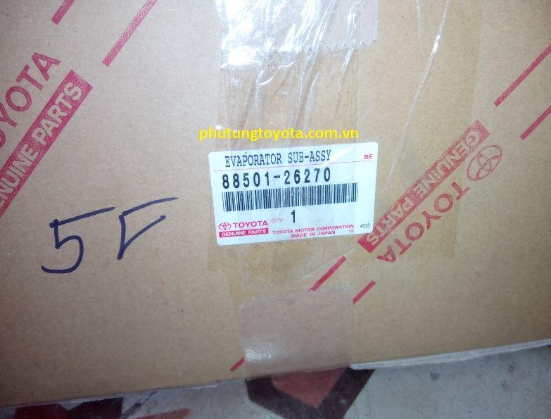 Picture of 88501-26270 Giàn lạnh sau, Dàn lạnh sau Toyota Hiace Cá mập mặt lợn