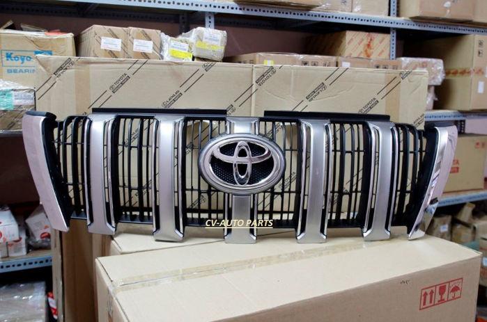 Picture of 53101-60C01 Mặt nạ ca lăng Toyota Land Cruiser Prado model 2013 - 2015 sơn bạc