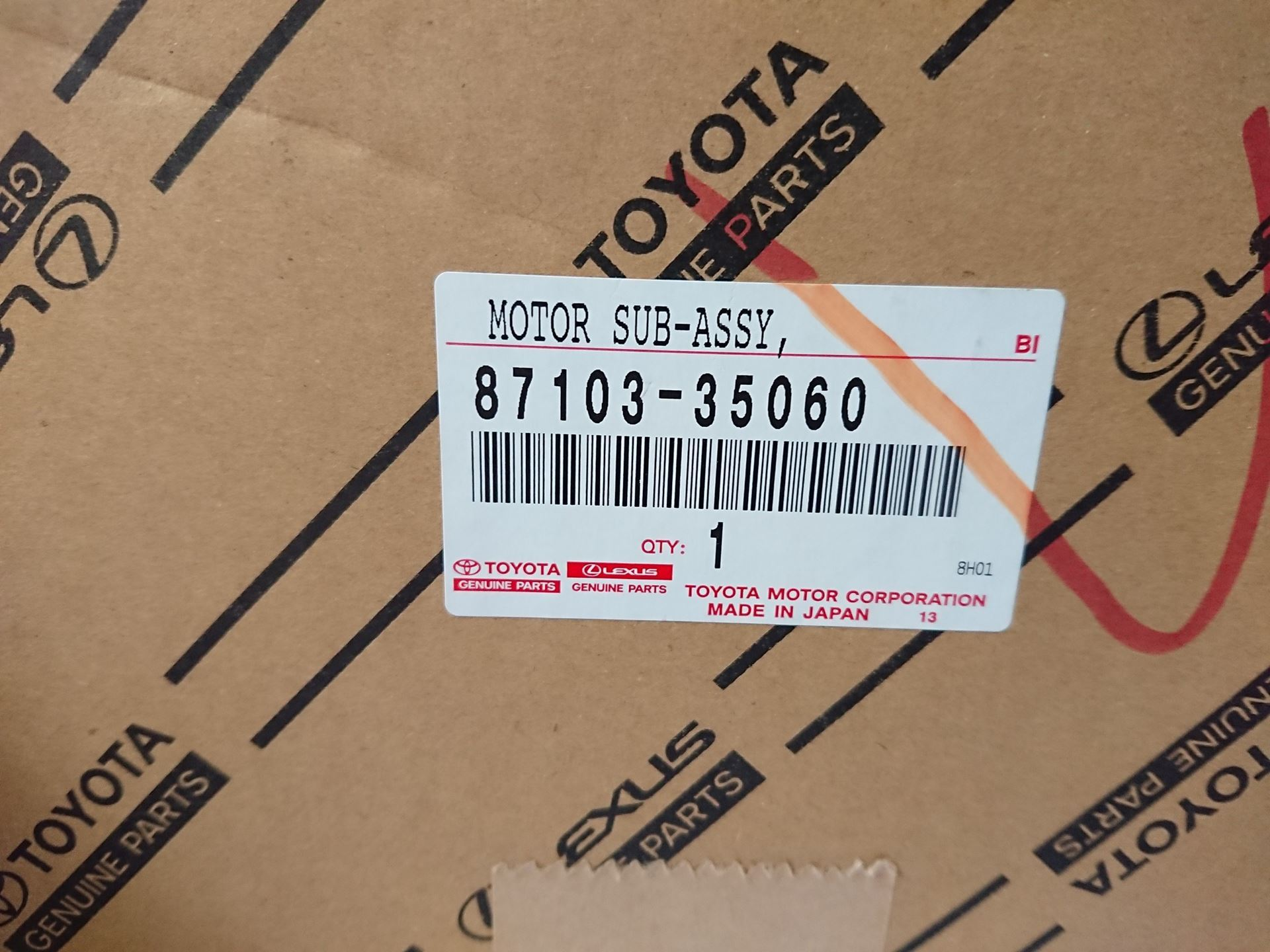 Picture of 87103-35060, 87103-35040, 87103-35041 Quạt điều hòa, quạt giàn lạnh Lexus GX470, Land Cruiser Prado
