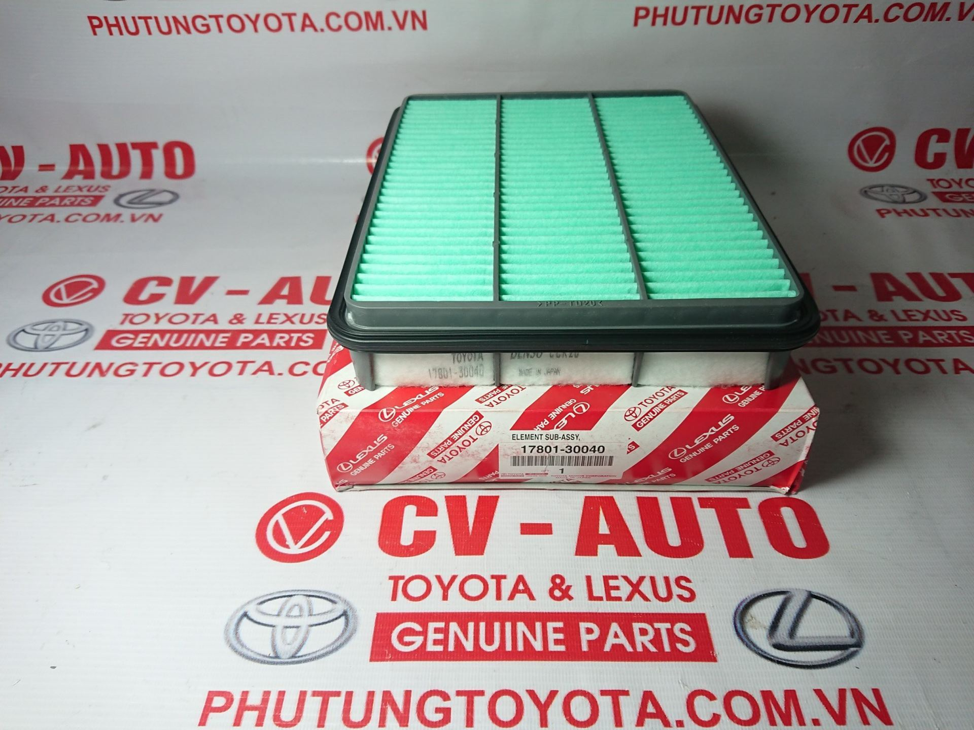 Picture of 17801-30040 Lọc gió động cơ Lexus GX470, Toyota Land Cruiser Prado
