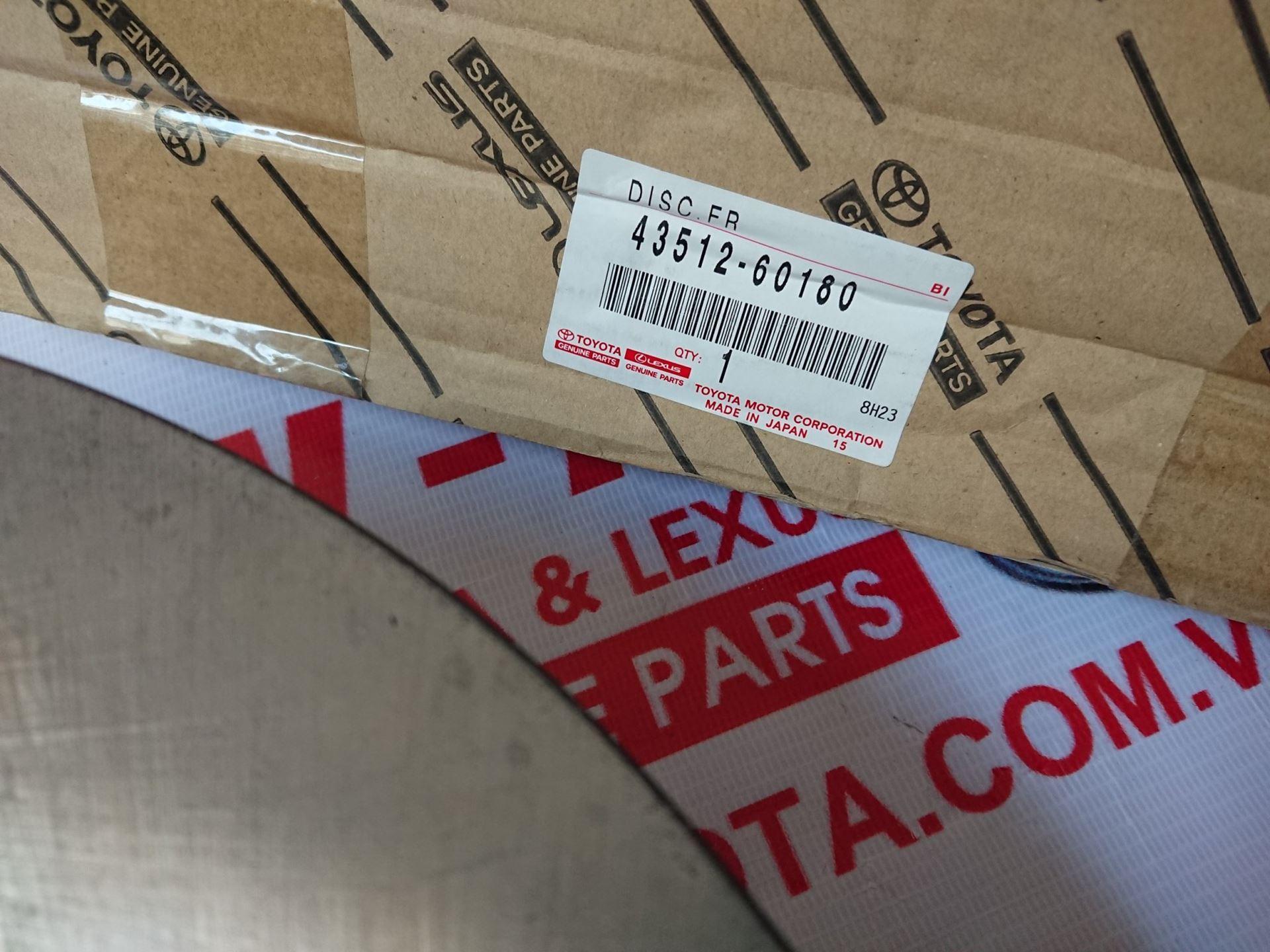 Picture of 43512-60180 Đĩa phanh trước Lexus LX570/Land hàng chính hãng