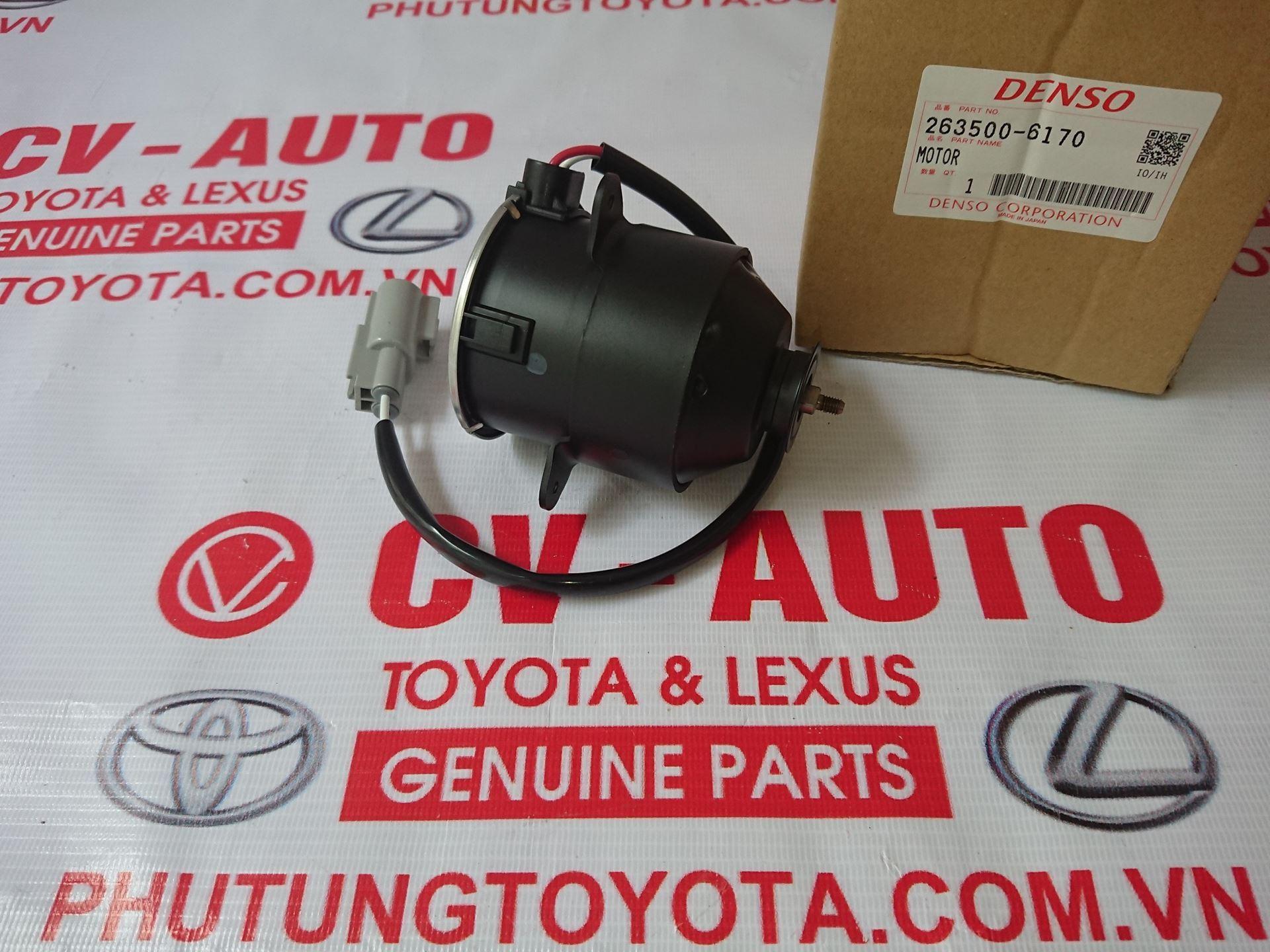 Picture of 263500-6170 Mô tơ quạt giàn nóng Toyota Camry hàng chính hãng