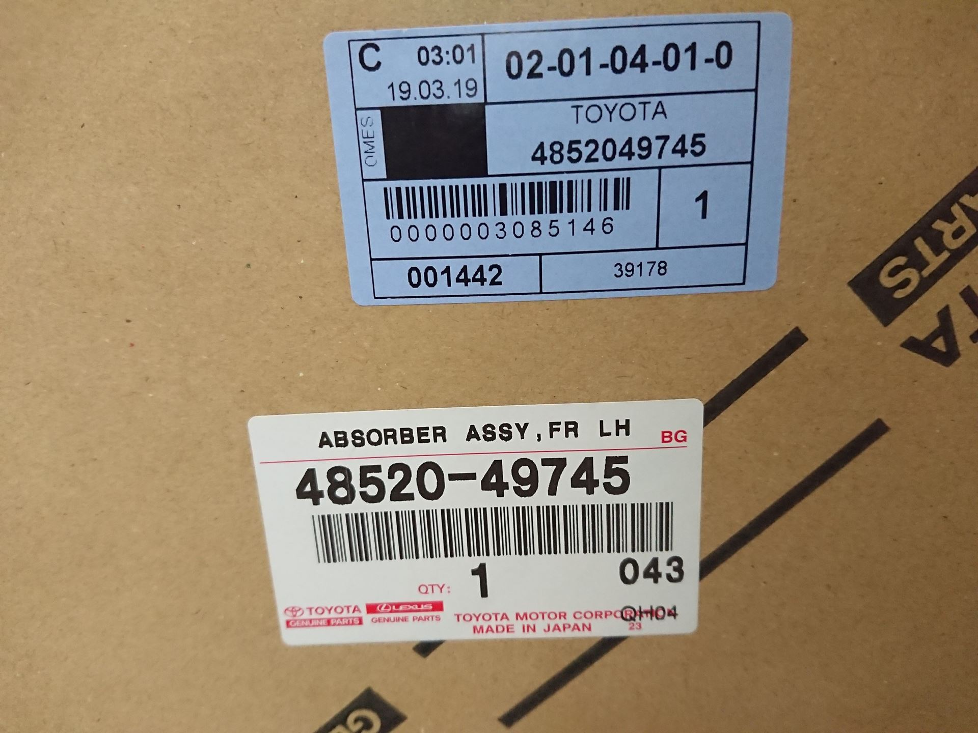 Picture of 48520-49745 48510-49885 Giảm xóc trước trái, phải Lexus RX330/350 2005-2008