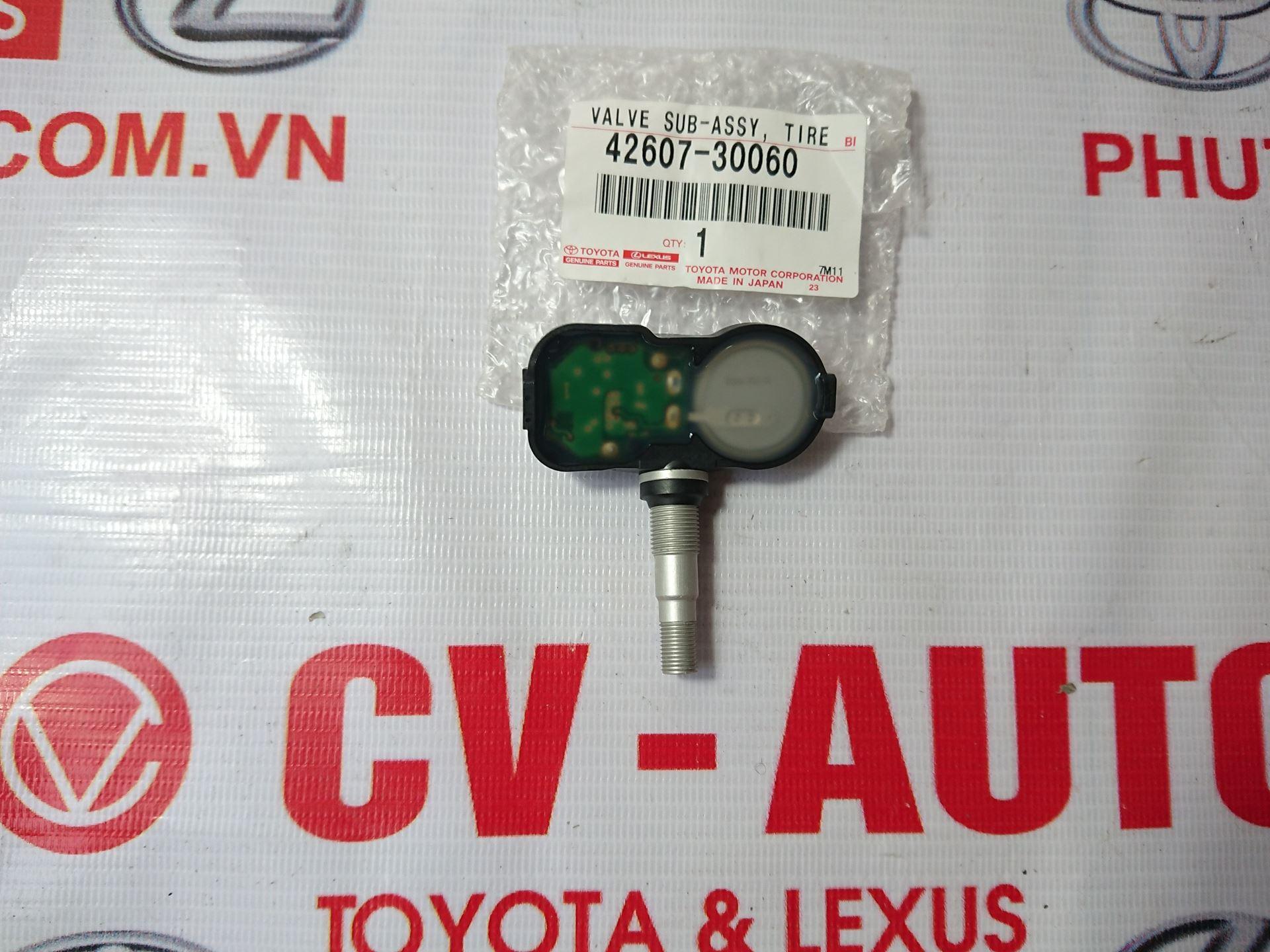 Picture of 42607-30060 Cảm biến áp suất lốp Toyota, Lexus hàng chính hãng ES300h, ES350, GS F, GS Turbo, GS200t, GS300, GS350, GS450h, GX460, IS200t, IS250, IS300, IS350, LS460, LS600h, NX200t, NX300, NX300h, RC F, RC Turbo, RC200t, RC300, RC350