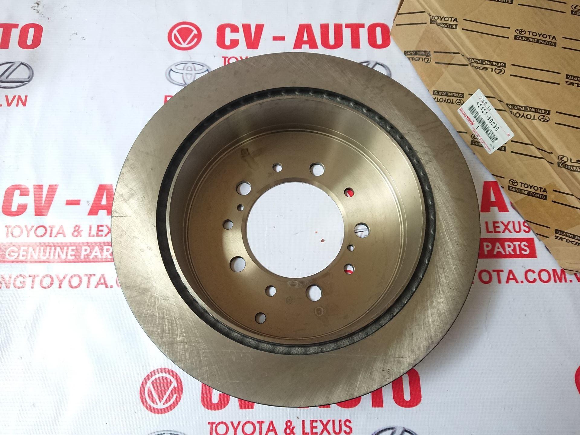 Picture of 42431-60290 Đĩa phanh sau Lexus LX570, Toyota Land Cruiser V8 chính hãng