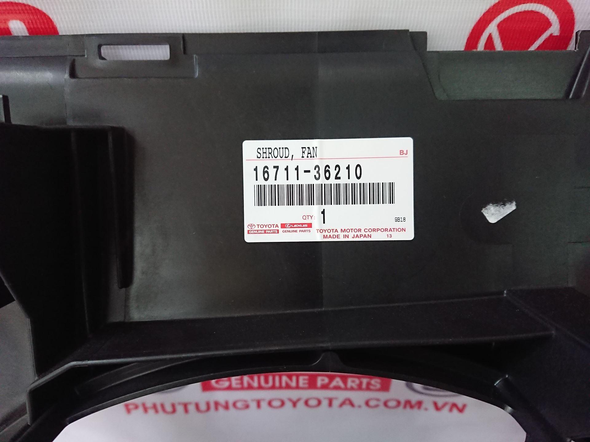 Picture of 16711-36210 Lồng quạt Lexus NX200T hàng chính hãng