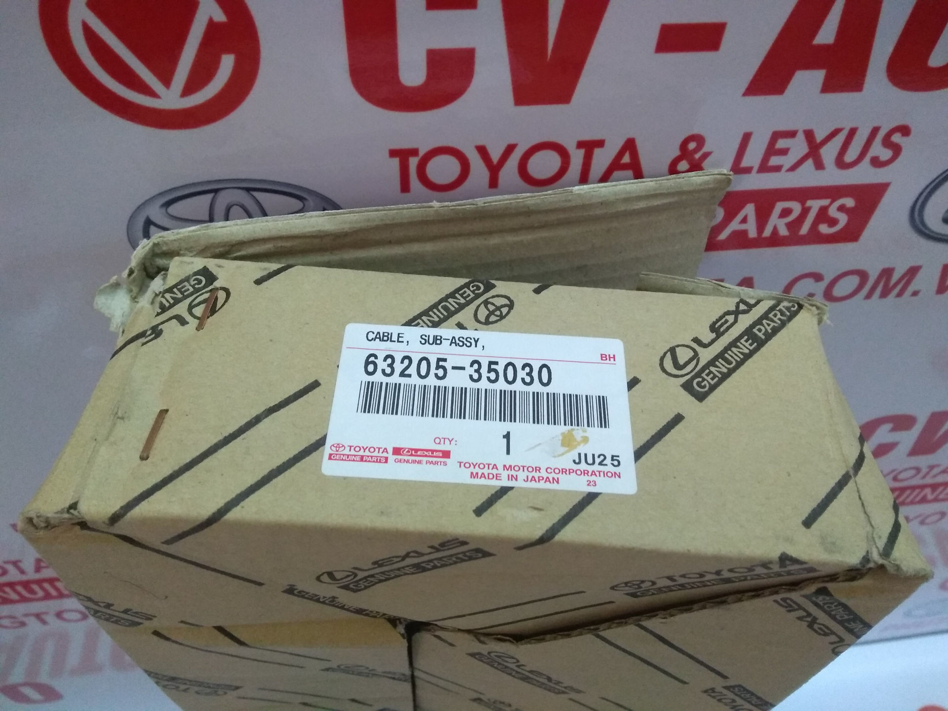 Picture of 63205-35030 Cáp cửa nóc Lexus GX470, Toyota Land Cruiser Prado hàng chính hãng