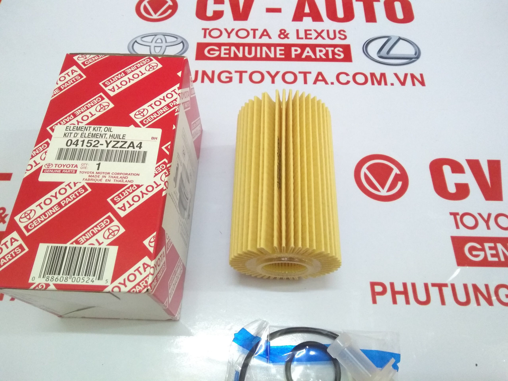 Picture of 04152-YZZA4 Lọc dầu giấy A4 Toyota, Lexus 38020 chính hãng