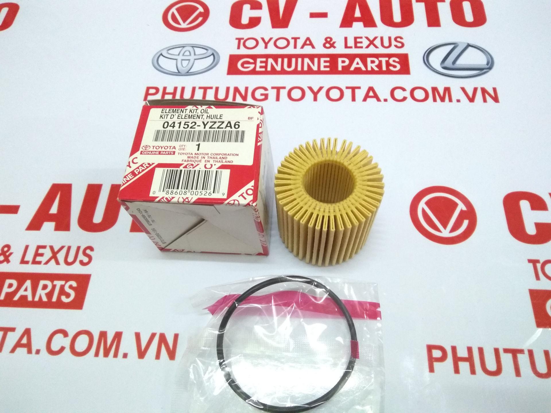 Picture of 04152-YZZA6 Lọc dầu giấy A6 Toyota, Lexus 37010 chính hãng