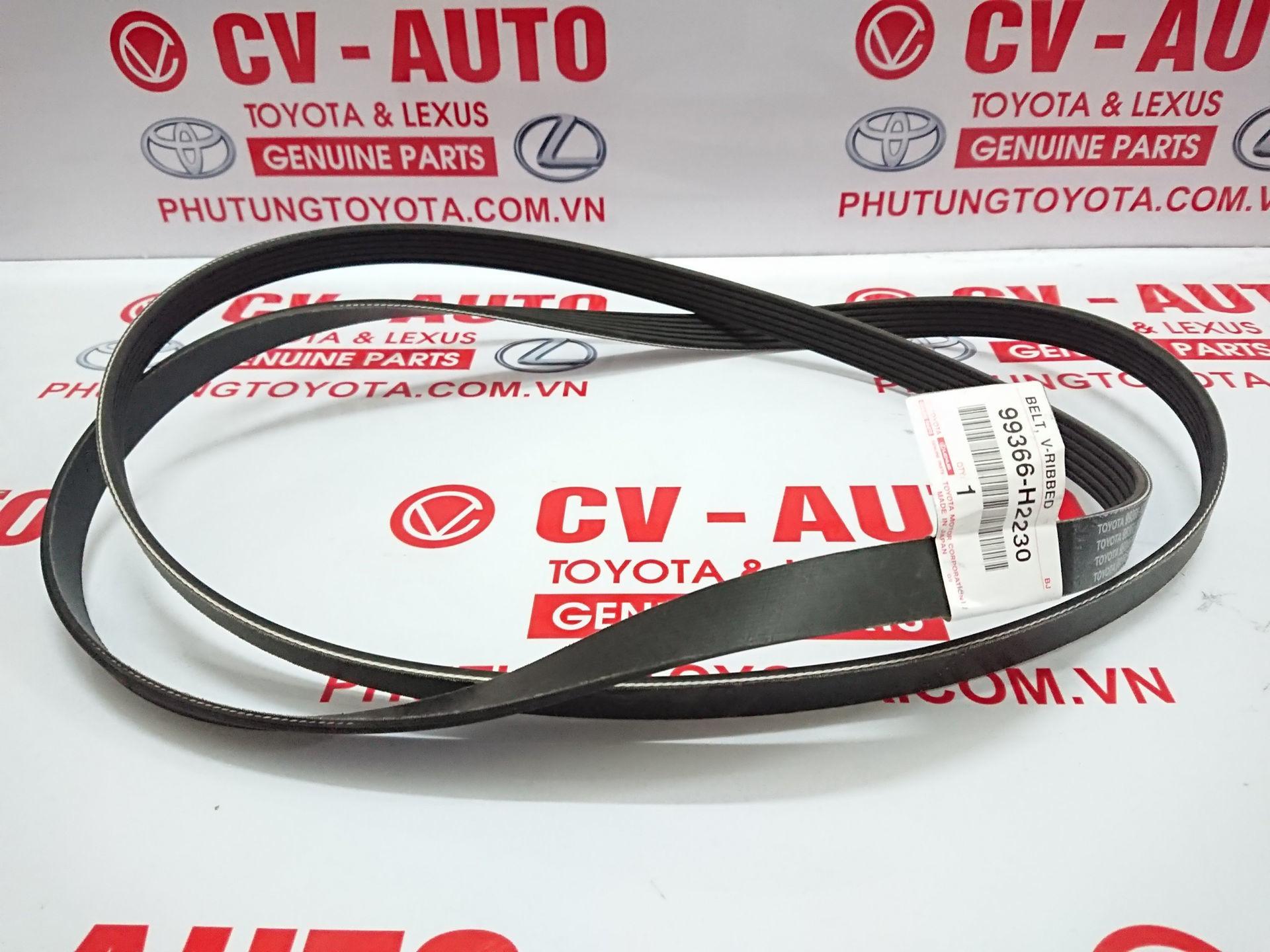 Picture of 99366-H2230 Dây curoa tổng 6PK2230 Toyota Land Cruiser 2UZ hàng chính hãng