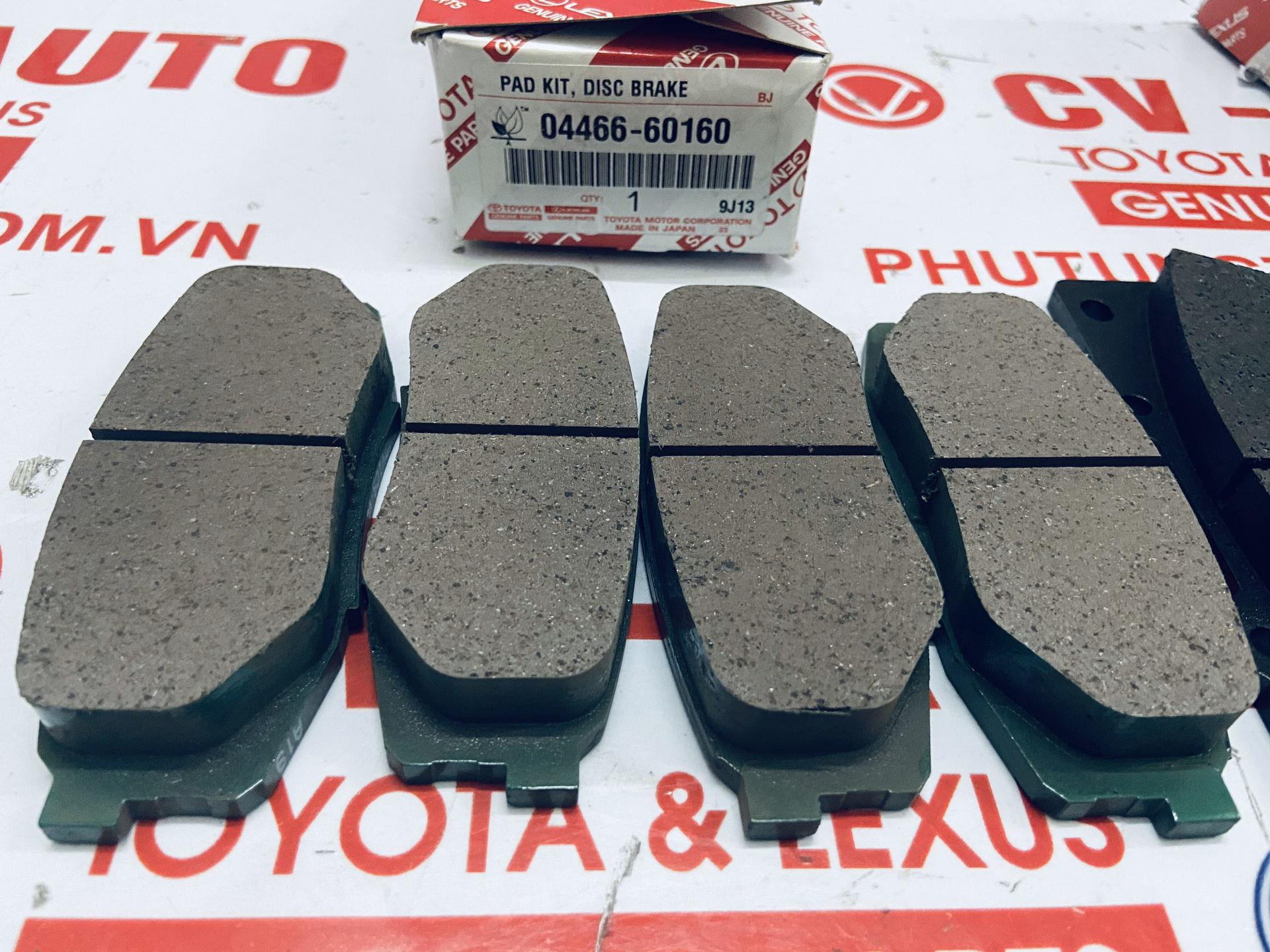 Picture of 04466-60160 04465-60280 Má phanh Lexus LX570, Toyota Land Cruiser V8 chính hãng