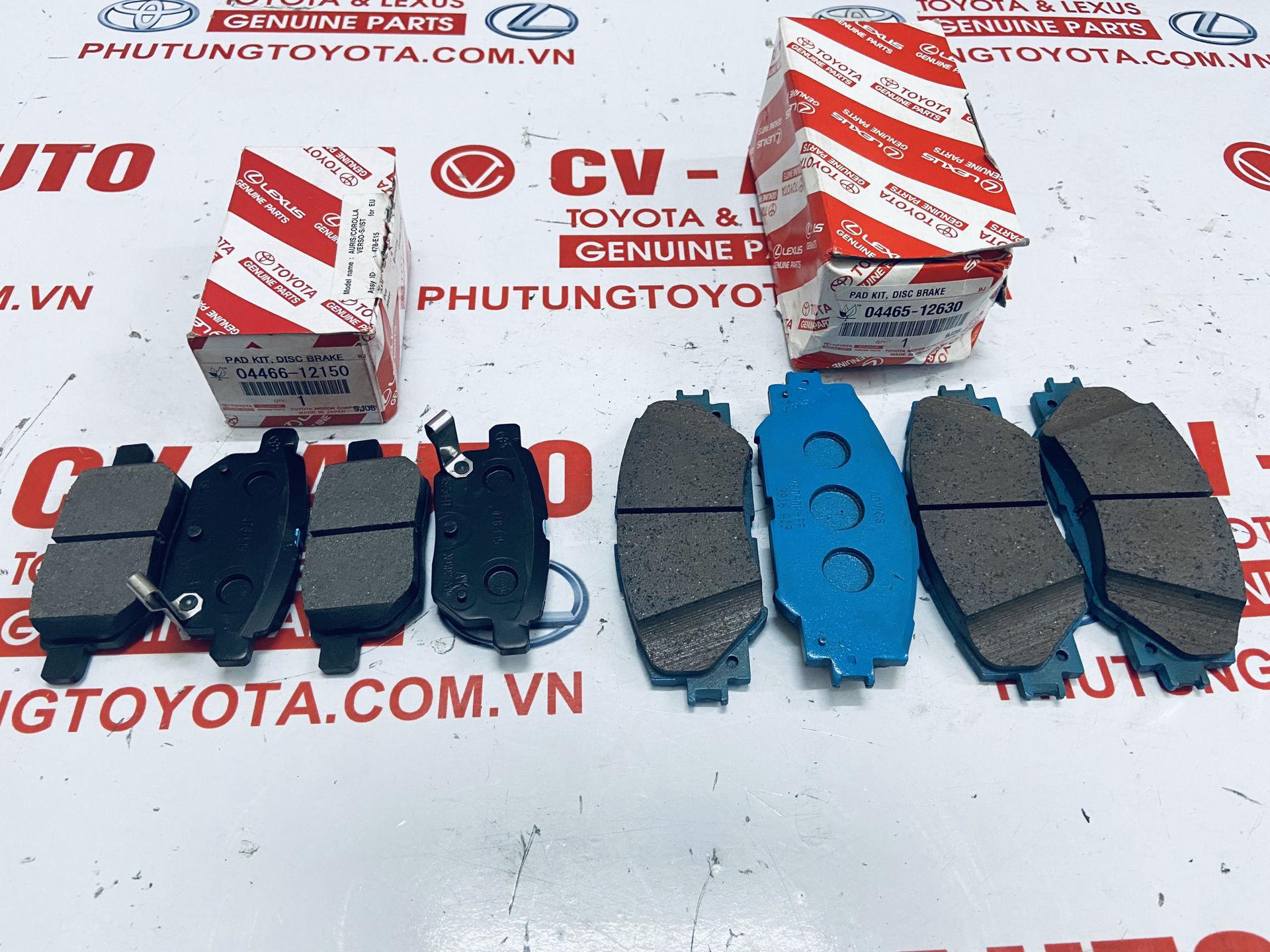 Picture of 04466-12150 Má phanh Toyota Vios, Altis 2008-2018 hàng chính hãng