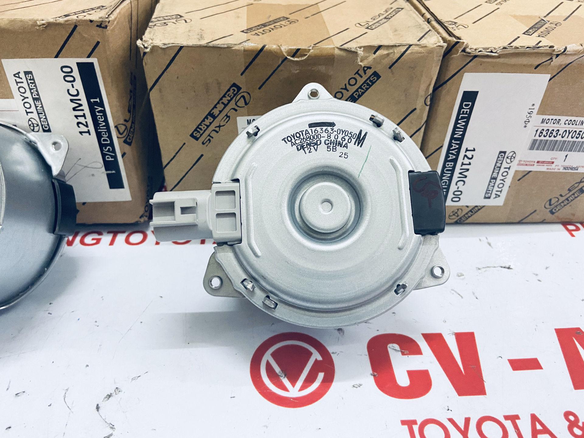Picture of 16363-0Y050 163630Y050 Mô tơ quạt két nước Toyota Vios, Yaris 2014-2020 chính hãng