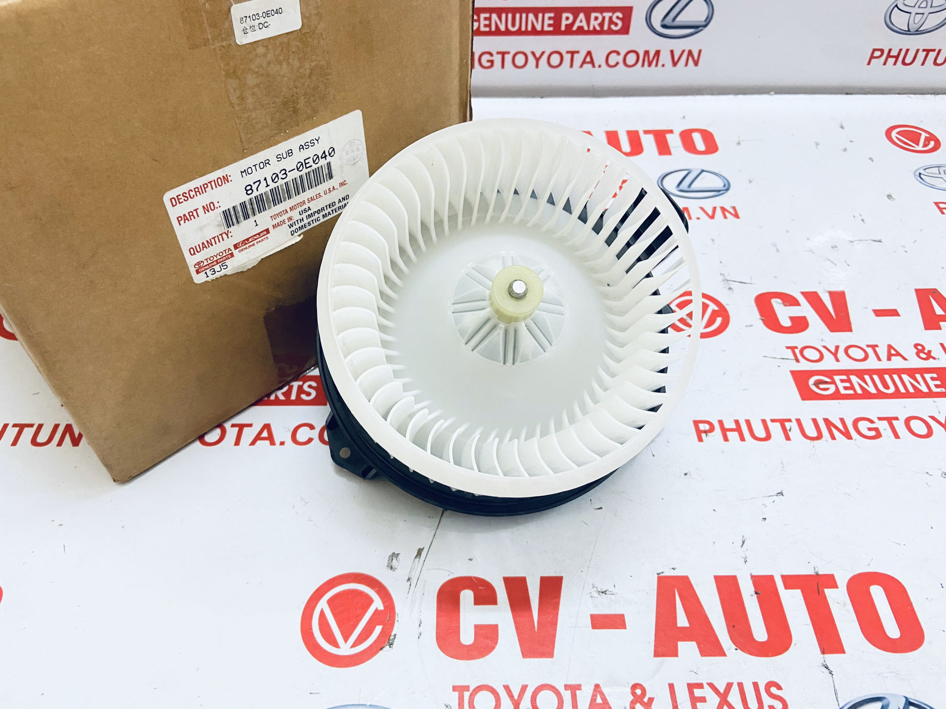 Picture of 87103-0E040 87103-06110 Quạt điều hòa Toyota Camry Venza Highlander Avalon / Lexus RX350 RX450H ES350