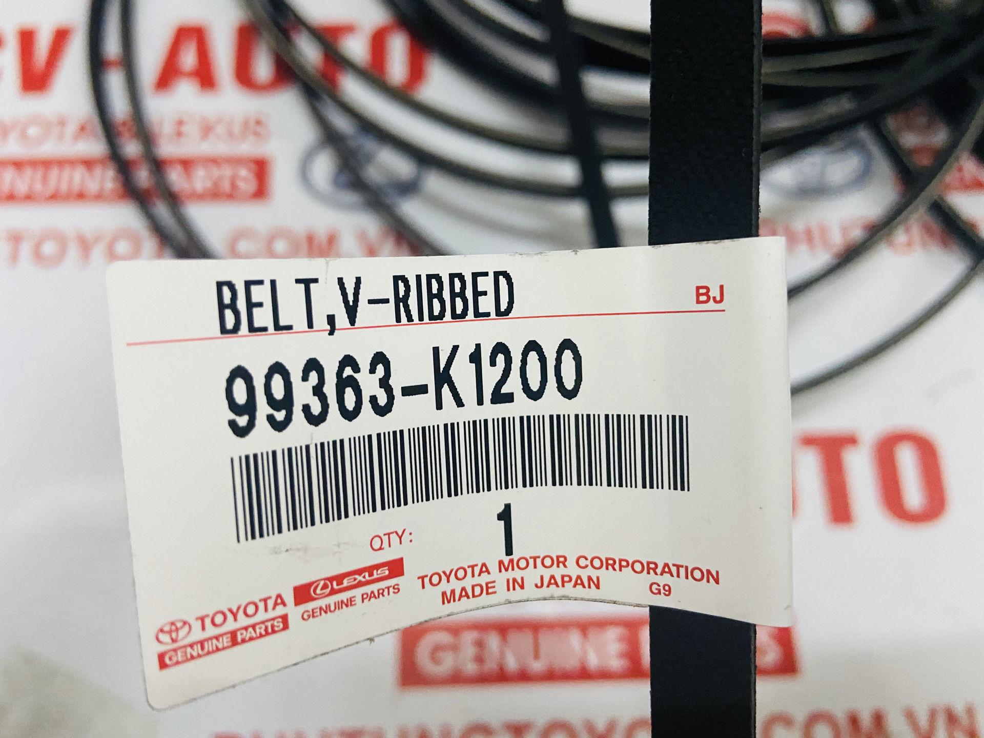 Picture of 99363-K1200 Dây bơm trợ lực 3PK1200 Toyota Camry 2.5 LE chính hãng