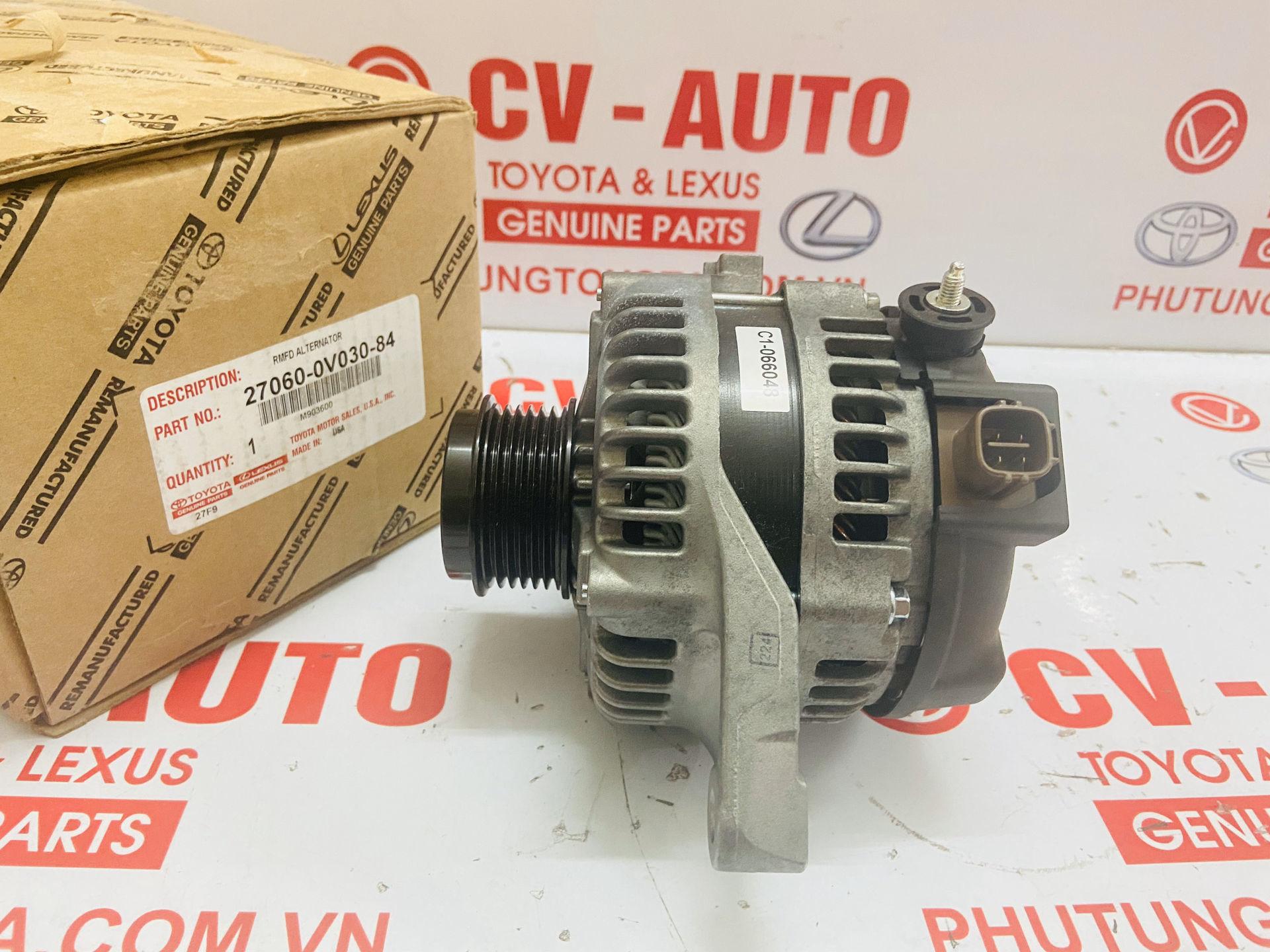 Picture of 27060-0V030-84 Máy phát Toyota Venza Highlander 2.7 chính hãng