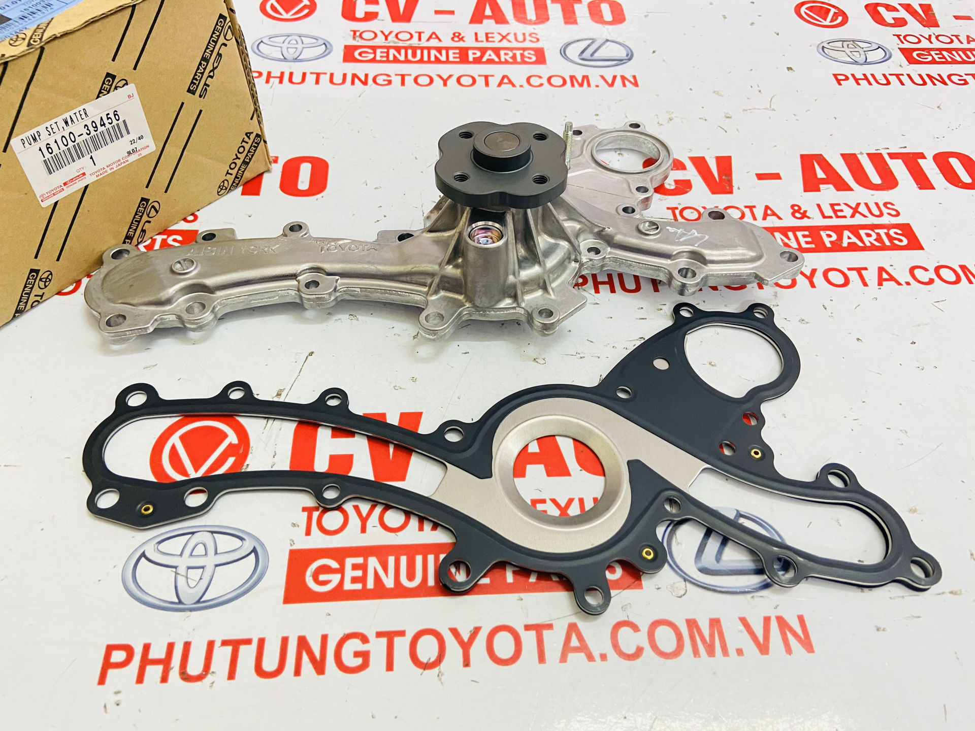 Picture of 16100-39456, 1610039456 Bơm nước Lexus RX350 EX350 - Toyota Venza Sienna Highlander Camry RAV4 máy 2GRFE