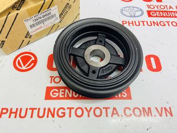 Hình ảnh của13470-0H020, 134700H020 Puly trục cơ, pu ly đầu cốt máy Toyota Camry RAV4 chính hãng