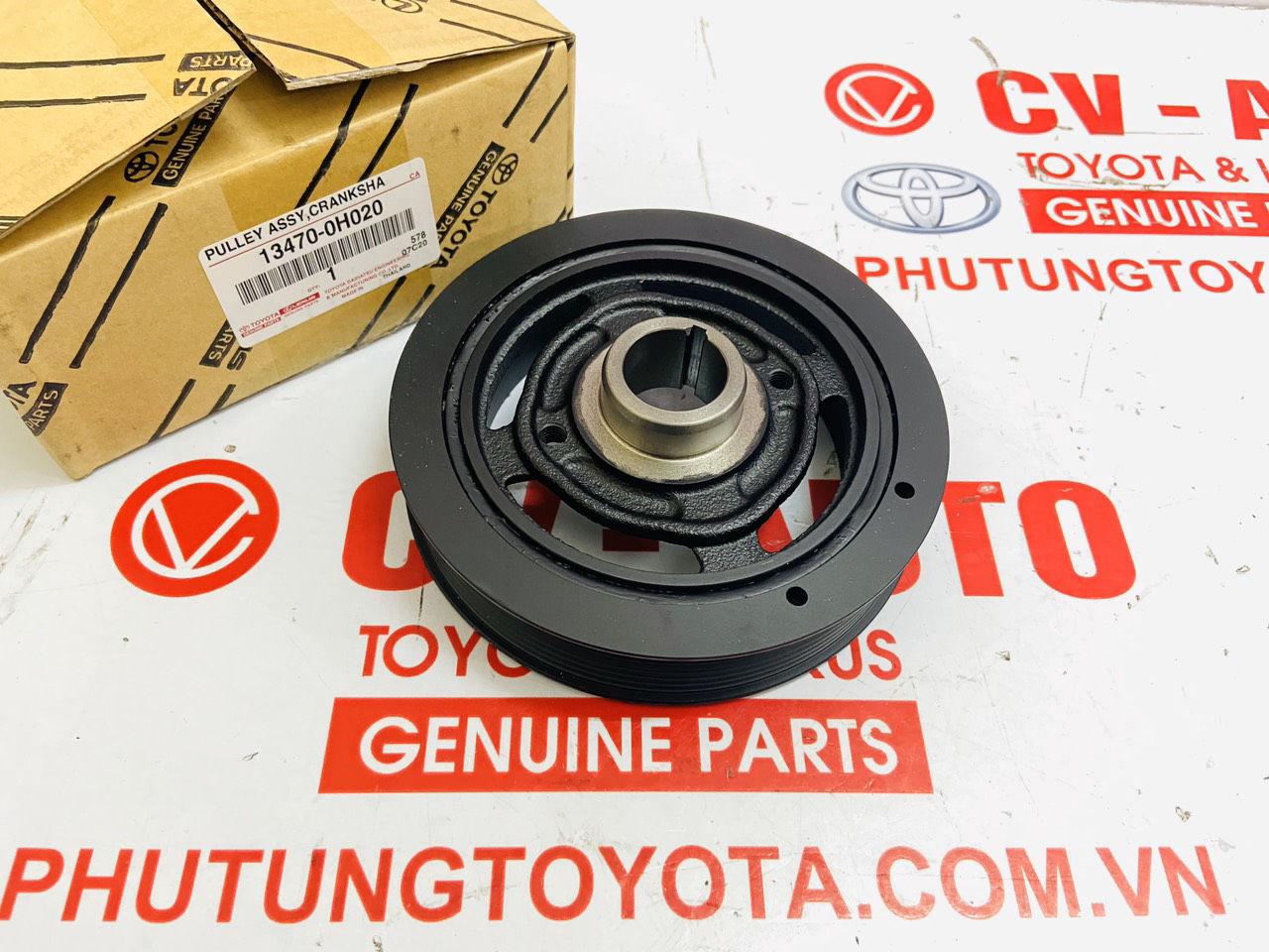 Picture of 13470-0H020, 134700H020 Puly trục cơ, pu ly đầu cốt máy Toyota Camry RAV4 chính hãng