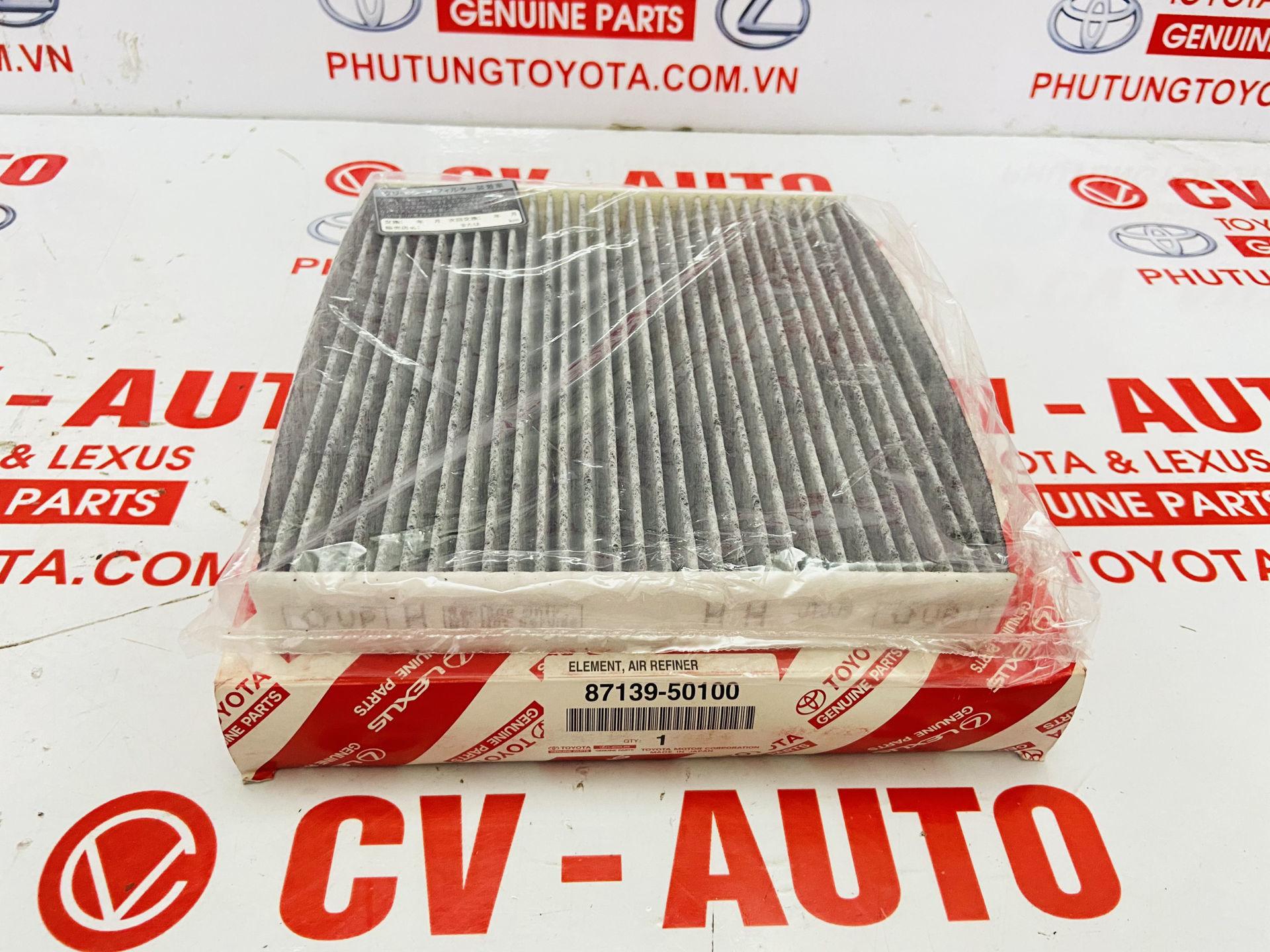 Picture of 87139-50100, 8713950100 Lọc gió điều hòa Toyota, Lexus hàng chính hãng, có than hoạt tính