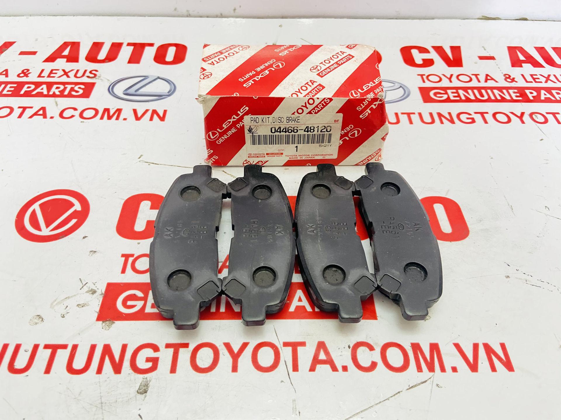 Picture of 04466-48120, 0446648120 Má phanh sau Toyota Highlander 2008-2015 chính hãng