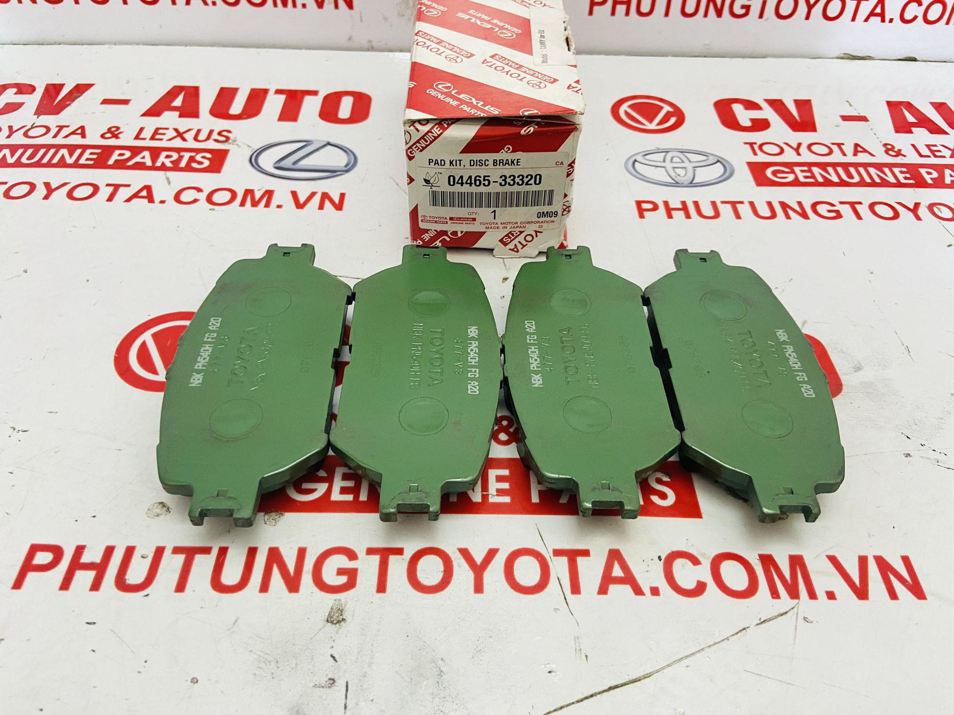 Picture of 04465-33320, 0446533320 Má phanh trước Toyota Camry 02-06 Lexus GS300 GS350 IS250 IS350 chính hãng
