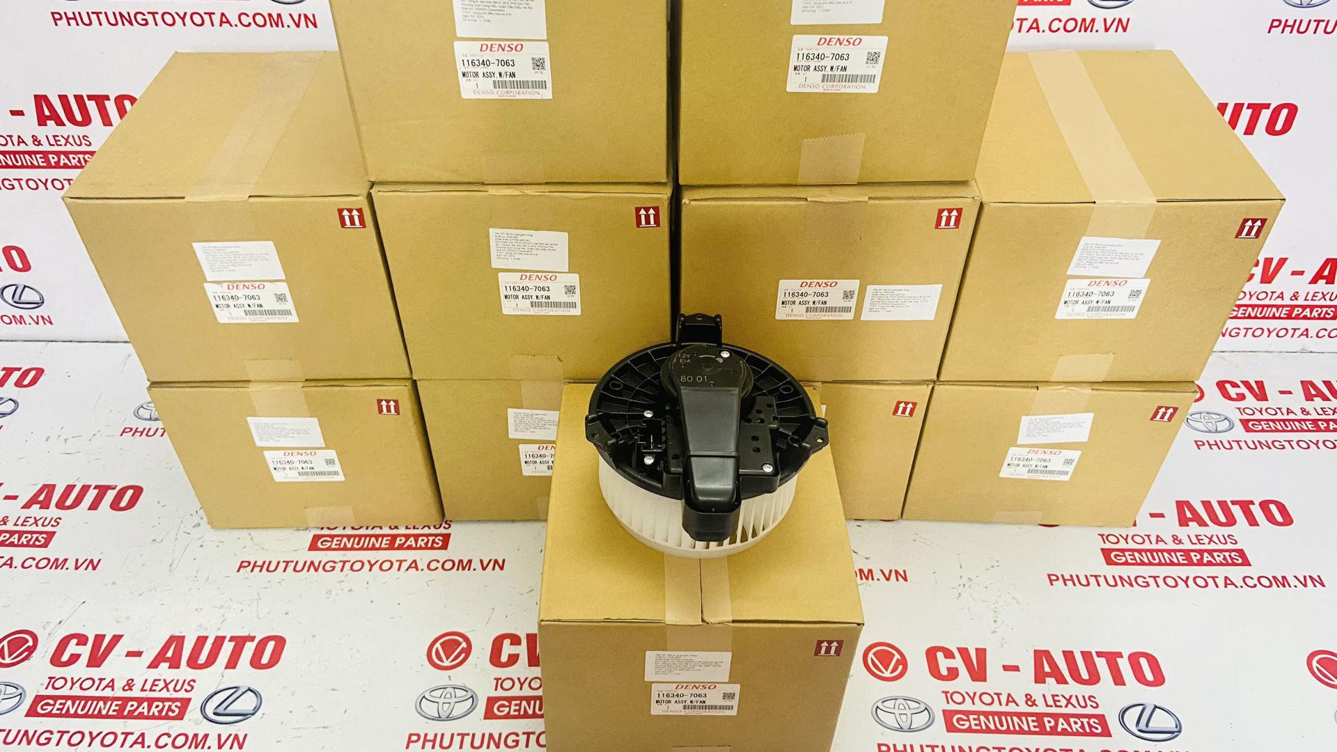 Picture of 116340-7063, 1163407063, Quạt giàn lanh, quạt gió điều hòa Toyota Camry Venza Highlander Avalon  Lexus ES350 RX350
