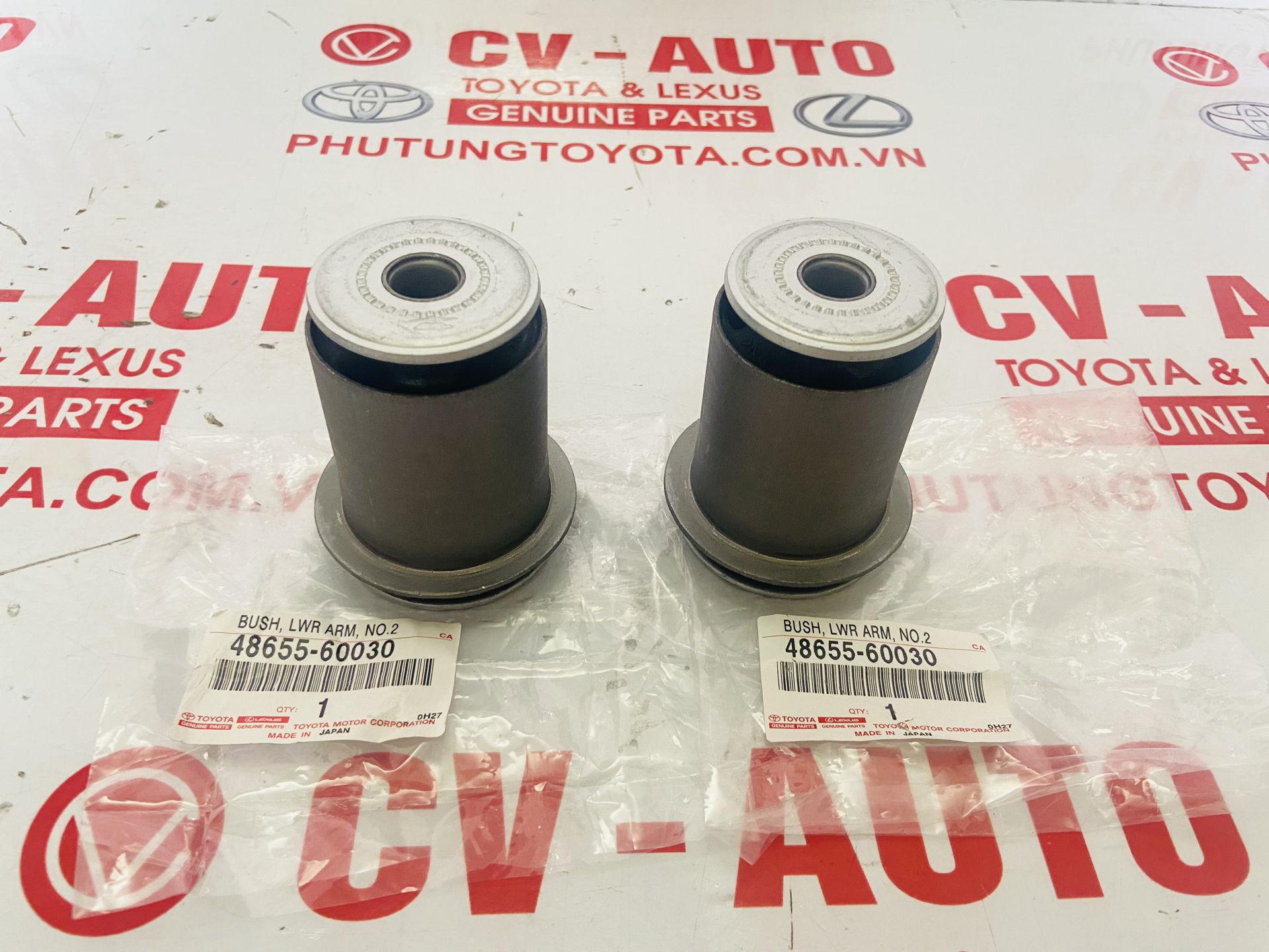 Picture of 48654-60030, 48655-60030 Cao su càng A Lexus GX470, Toyota Land Cruiser Prado chính hãng