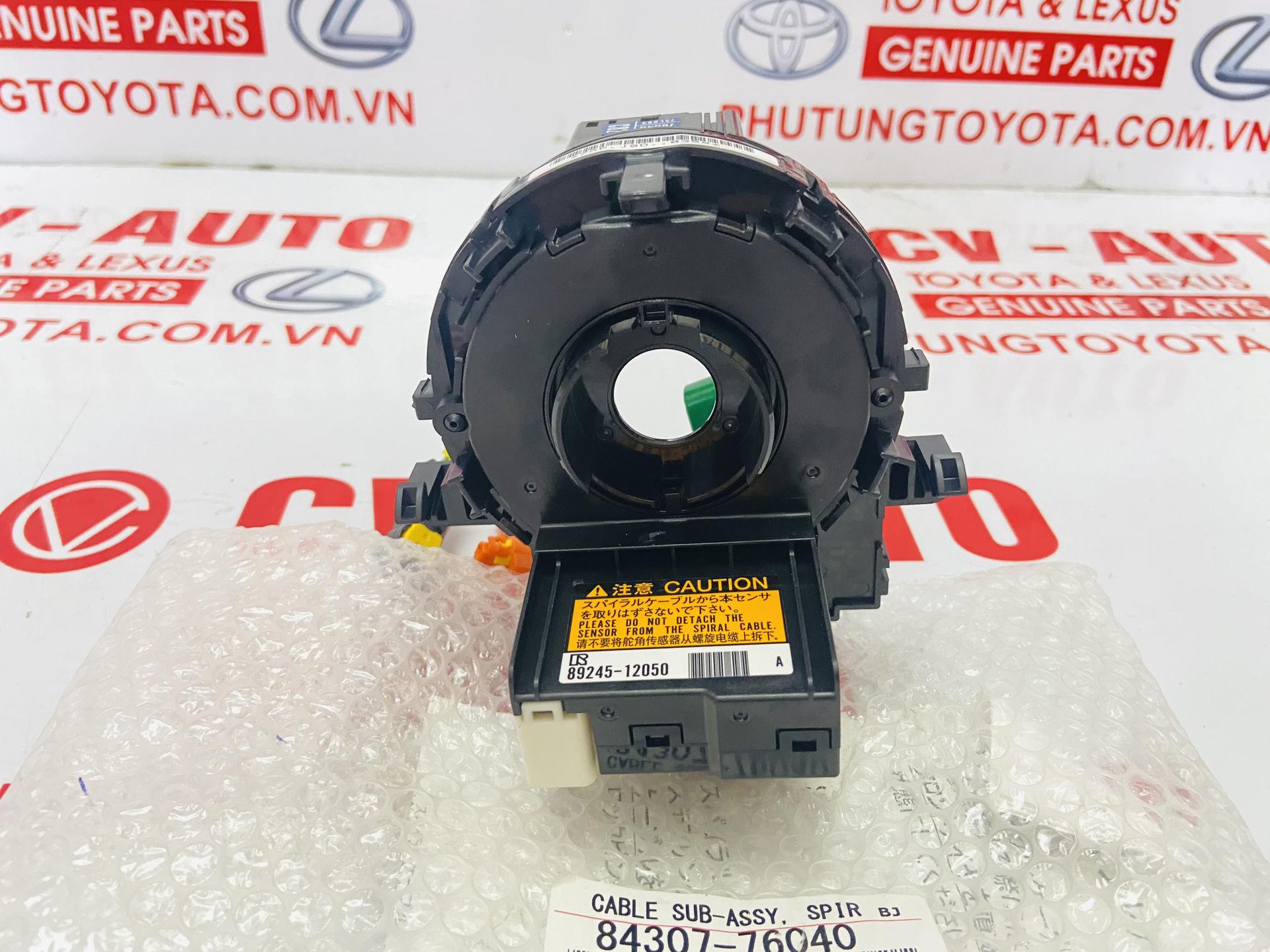 Picture of 84307-76040, 8430776040 Cáp còi liền cảm biến góc lái Lexus CT200H chính hãng