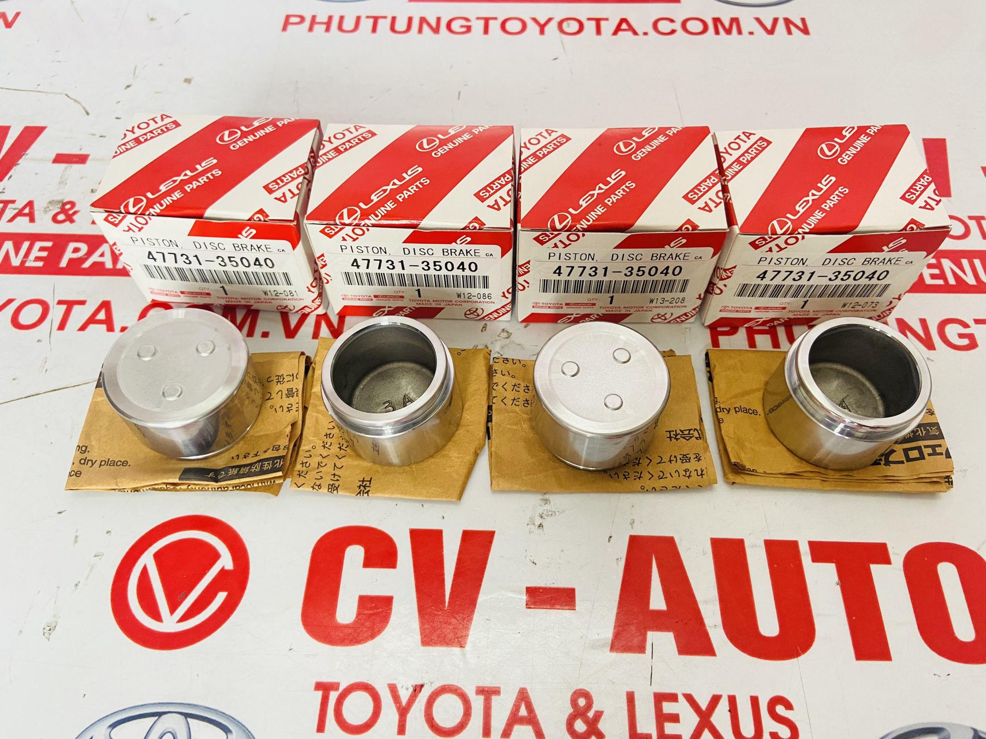 Picture of 47731-35040, 4773135040 Piston phanh trước Toyota Fortuner, Prado Lexus GX470 chính hãng