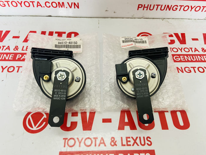 Picture of 86510-48150, 86520-48110, 8651048150, 8652048110 Còi âm tần thấp, cao Toyota Lexus chính hãng