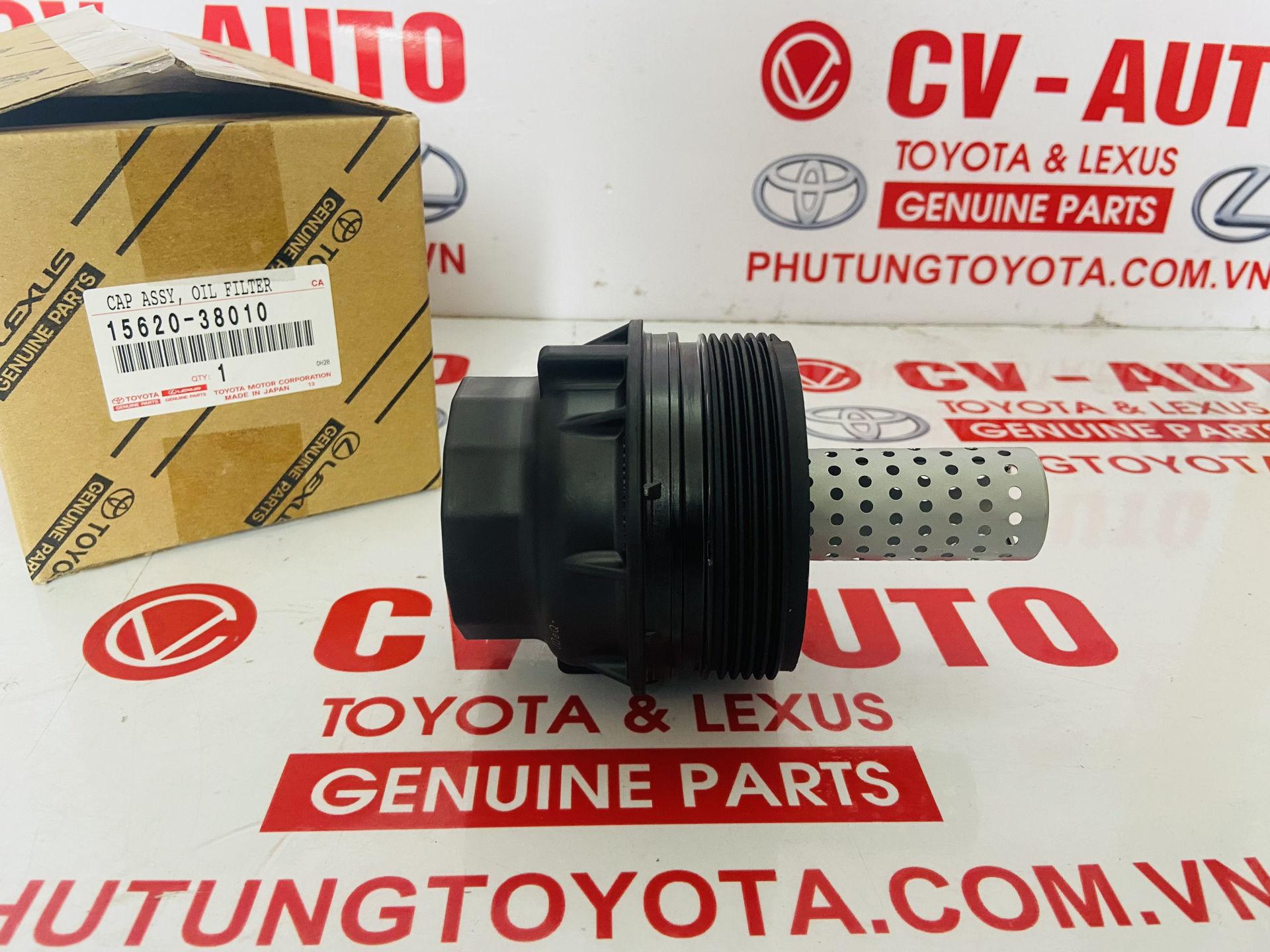 Picture of 15620-38010, 1562038010 Nắp lọc dầu Lexus LX570, Toyota Land Cruiser 3UR chính hãng