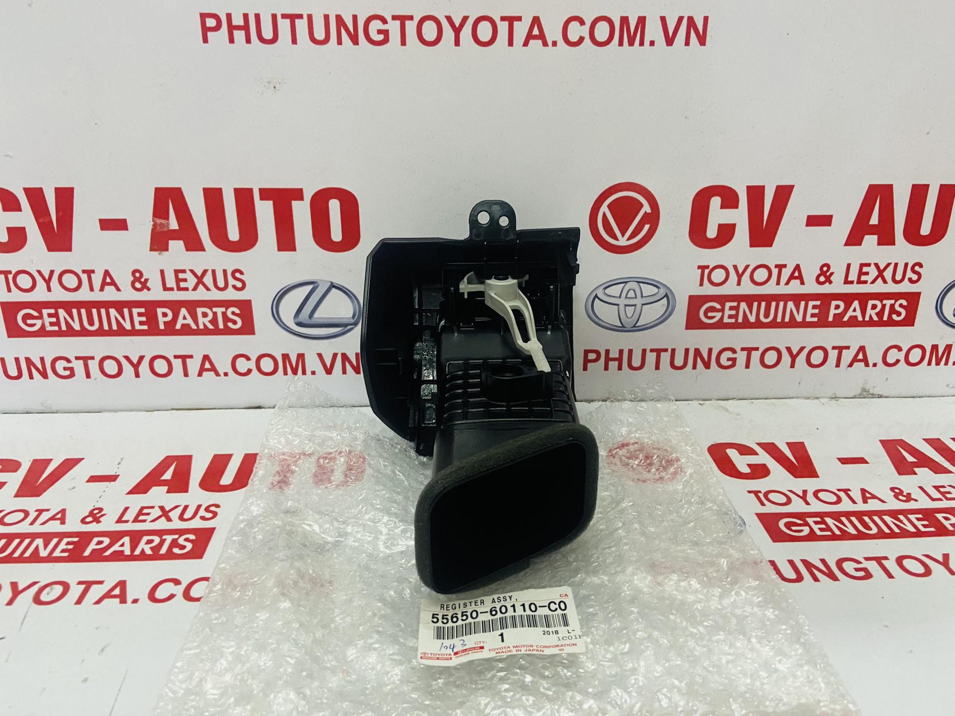Picture of 5565060110C0 55650-60110-C0, 5566060150C0 55660-60150-C0  Cửa gió điều hòa Lexus GX470 Toyota Prado chính hãng