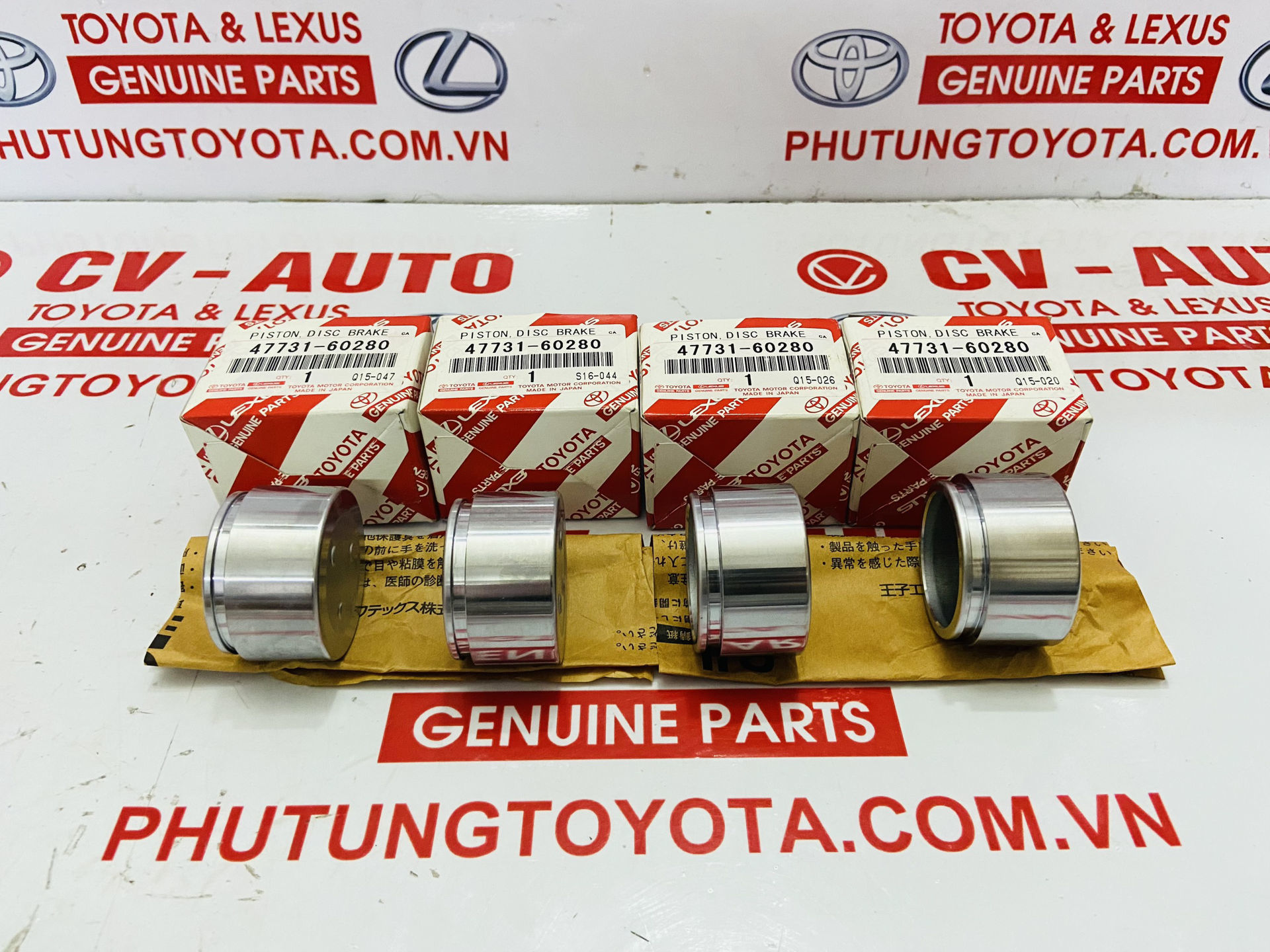 Picture of 4773160280 47731-60280 Piston phanh trước Lexus LX570 Chính hãng