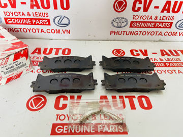 Hình ảnh của04465-33471, 0446533471 Má phanh trước Toyota Camry, Avalon Lexus ES350 2006 hàng chính hãng