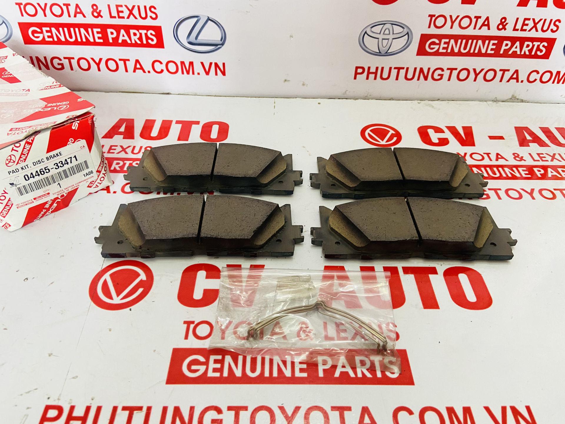 Picture of 04465-33471, 0446533471 Má phanh trước Toyota Camry, Avalon Lexus ES350 2006 hàng chính hãng