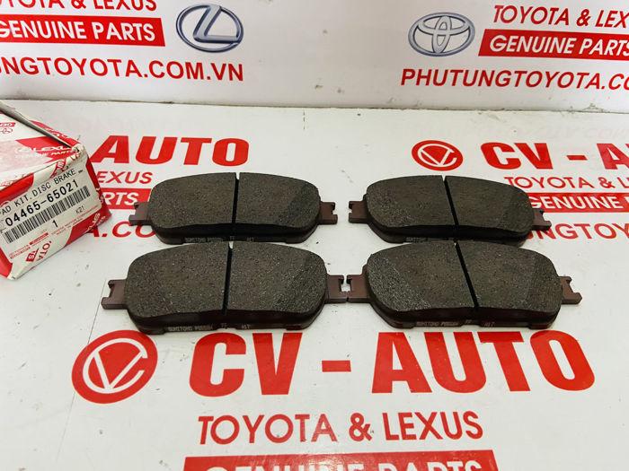 Picture of 04465-65021, 0446565021 Má phanh trước Toyota Sienna, Avalon, Alphard chính hãng